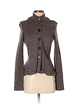 Pink Tartan Wool Cardigan Size S
