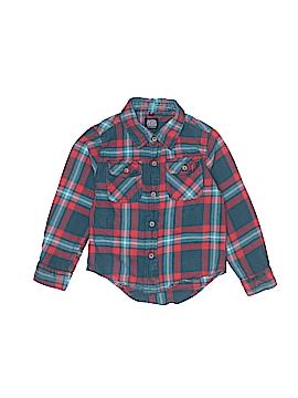 Little Traveler Long Sleeve Button-Down Shirt Size 3T