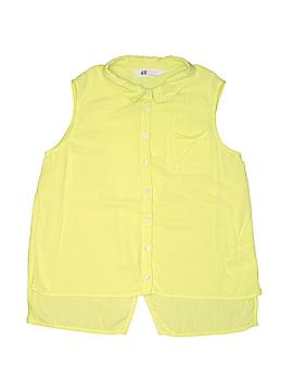 H&M Sleeveless Button-Down Shirt Size 10 - 11