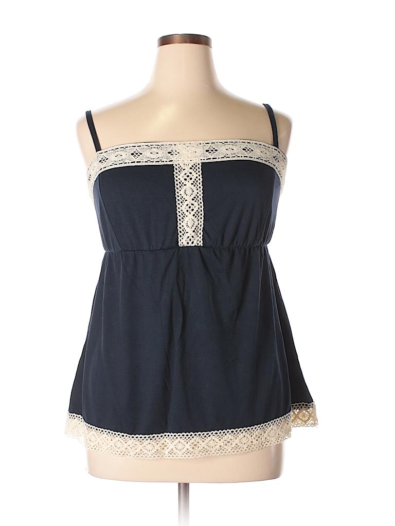 3af9614b29b Torrid Lace Navy Blue Sleeveless Top Size 1X Plus (1) (Plus) - 73 ...