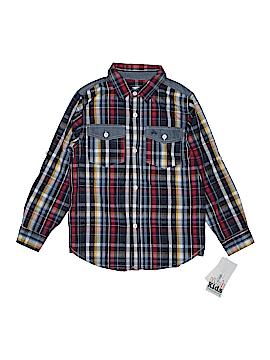 Kids Headquarters Long Sleeve Button-Down Shirt Size 7