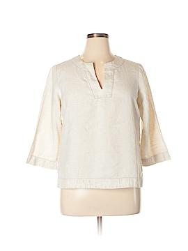 Gloria Vanderbilt 3/4 Sleeve Blouse Size L
