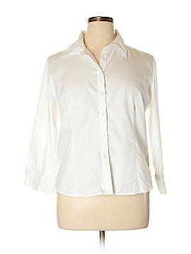 Draper's & Damon's Long Sleeve Button-Down Shirt Size 18 (Plus)