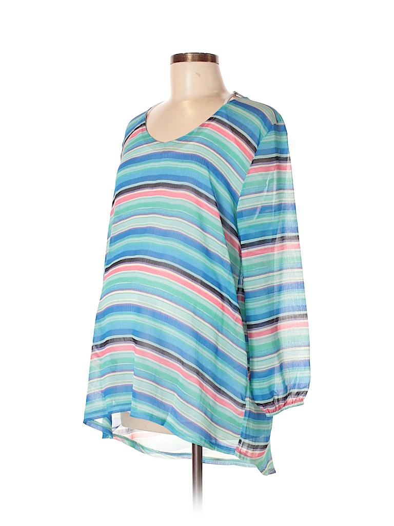 Everly Grey Women 3/4 Sleeve Blouse Size L (Maternity)
