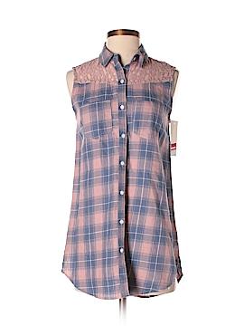 Wild Pearl Sleeveless Button-Down Shirt Size XS