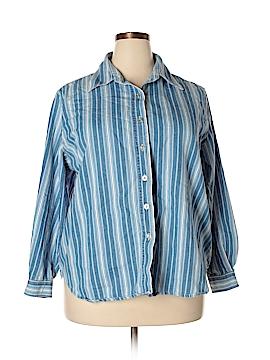 Venezia Long Sleeve Button-Down Shirt Size 18 - 20 Plus (Plus)
