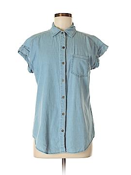 Signature Studio Short Sleeve Button-Down Shirt Size S