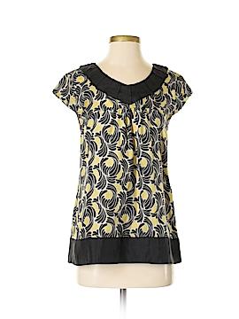 Liquid Short Sleeve Silk Top Size 4
