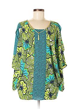 Yoana Baraschi Short Sleeve Blouse Size Med - Lg