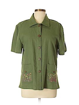 Sag Harbor Short Sleeve Button-Down Shirt Size 10