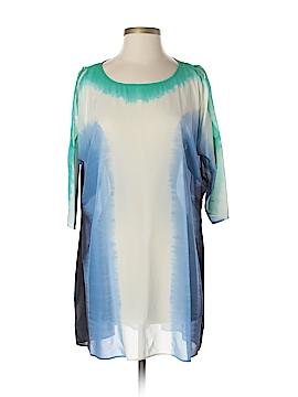 Calypso St. Barth 3/4 Sleeve Silk Top Size S