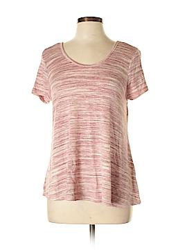 Pink Rose Short Sleeve Top Size L