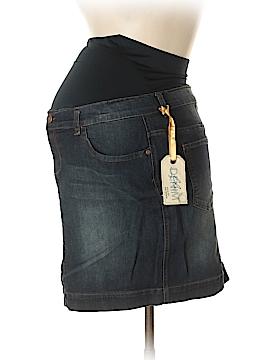 Lilac Denim Skirt Size M (Maternity)