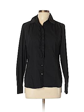 Apostrophe Long Sleeve Button-Down Shirt Size L