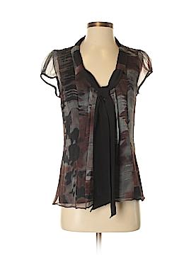 Black Halo Short Sleeve Silk Top Size 4