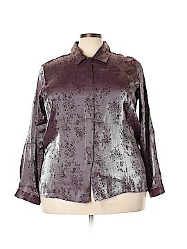 Kathie Lee Long Sleeve Button-Down Shirt Size 22W (Plus)