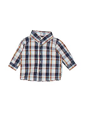 Boyz Wear By Nannette Long Sleeve Button-Down Shirt Size 12 mo