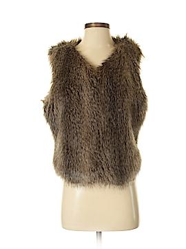New York & Company Faux Fur Vest Size Sm - Med