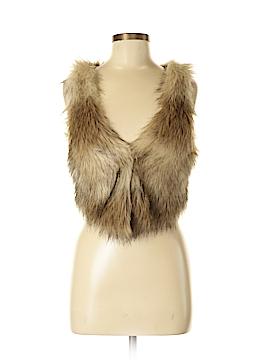 H&M Faux Fur Vest Size 6