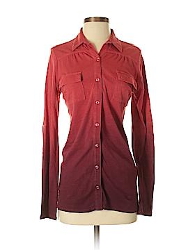 Pink Lotus Long Sleeve Button-Down Shirt Size XS