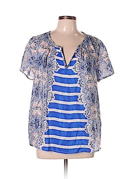 Maeve Short Sleeve Silk Top Size L