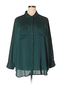 Lands' End Long Sleeve Blouse Size 3X (Plus)