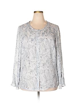 Norton McNaughton Long Sleeve Blouse Size 1X (Plus)