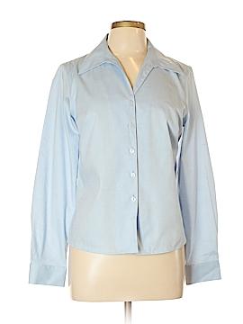 Evan Picone Long Sleeve Button-Down Shirt Size 8