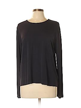 Eileen Fisher Long Sleeve Silk Top Size L