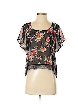 Black Poppy Short Sleeve Blouse Size XS