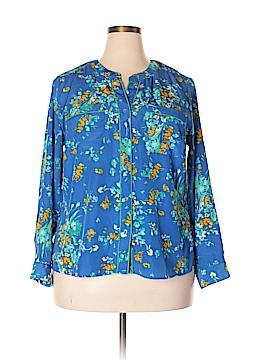 Elementz Long Sleeve Blouse Size 1X (Plus)