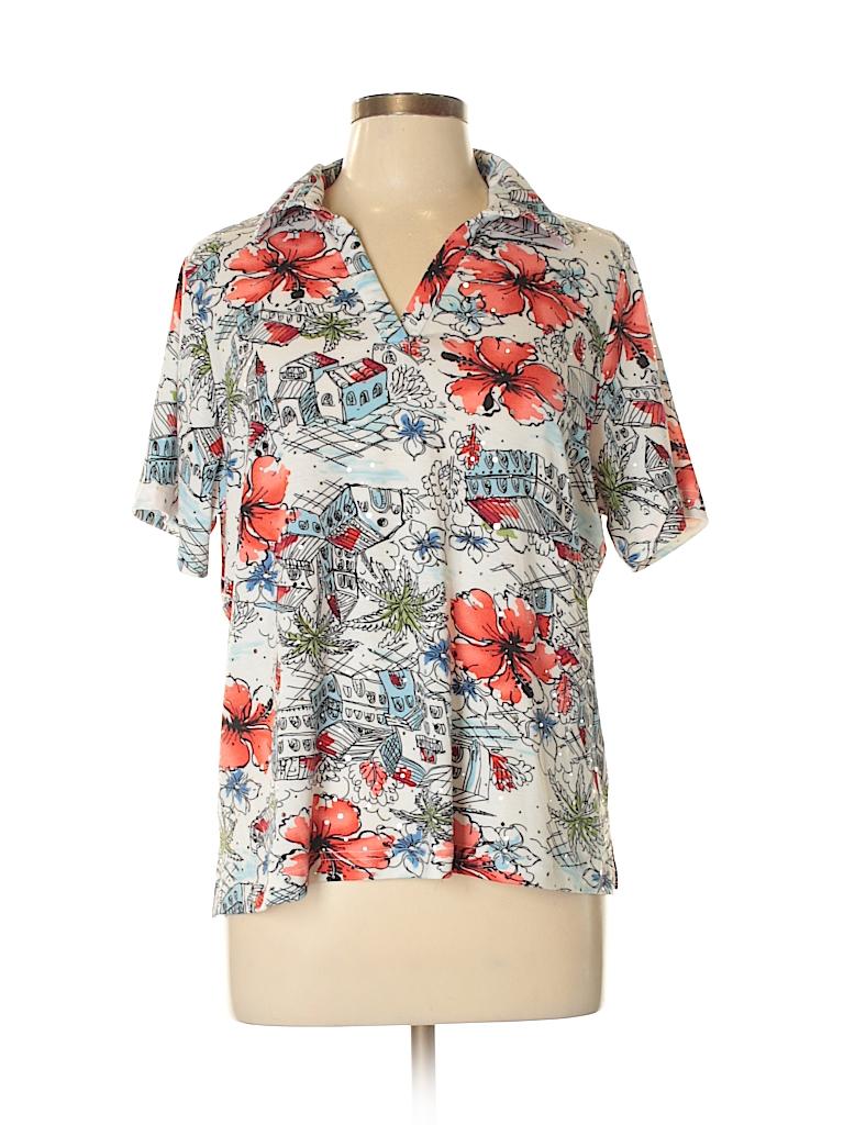 Cathy Daniels Women Short Sleeve Polo Size L