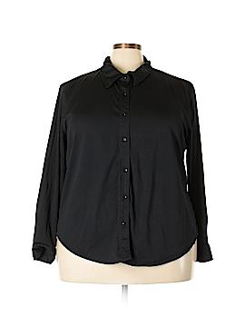 Bogari Long Sleeve Silk Top Size 3X (Plus)