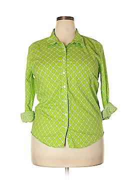 Crown & Ivy Long Sleeve Button-Down Shirt Size XL