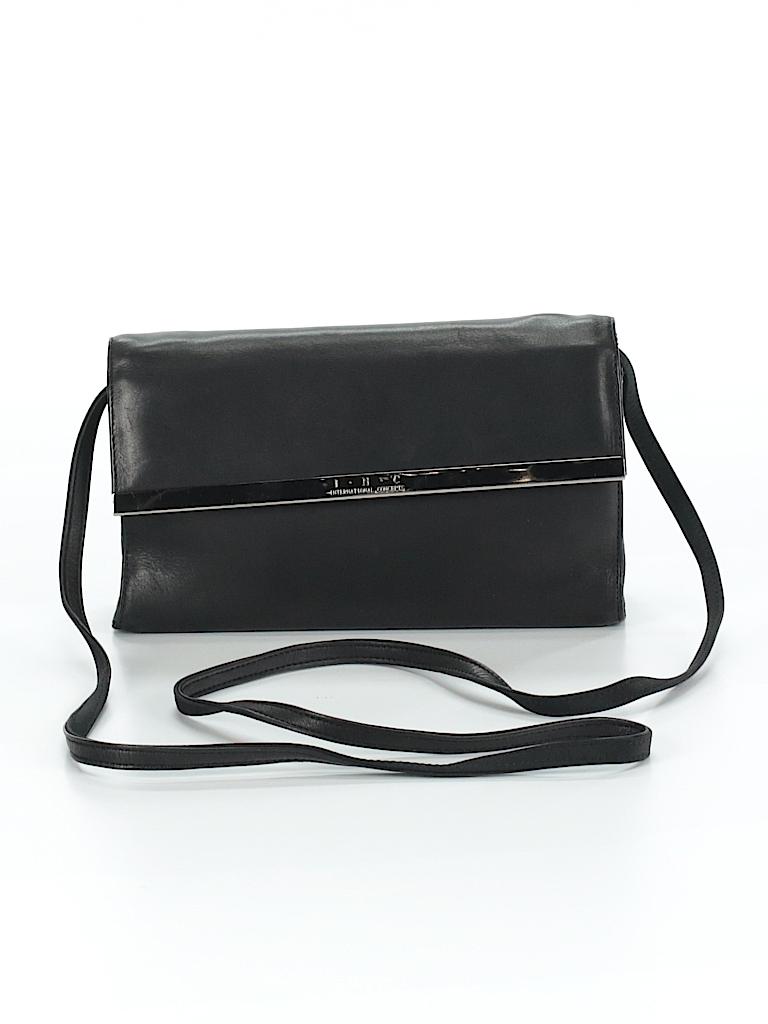 cd3762ec817f INC International Concepts Solid Black Crossbody Bag One Size - 82 ...