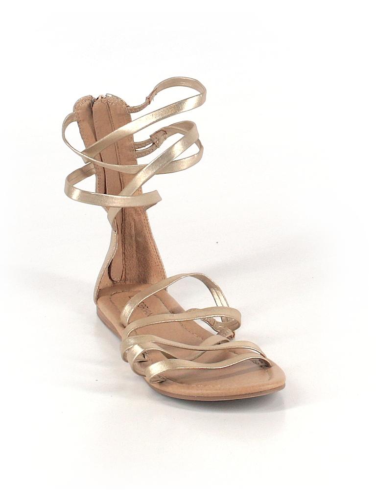 b6bfc53e87e Lane Bryant Solid Gold Sandals Size 8 (Plus) - 74% off