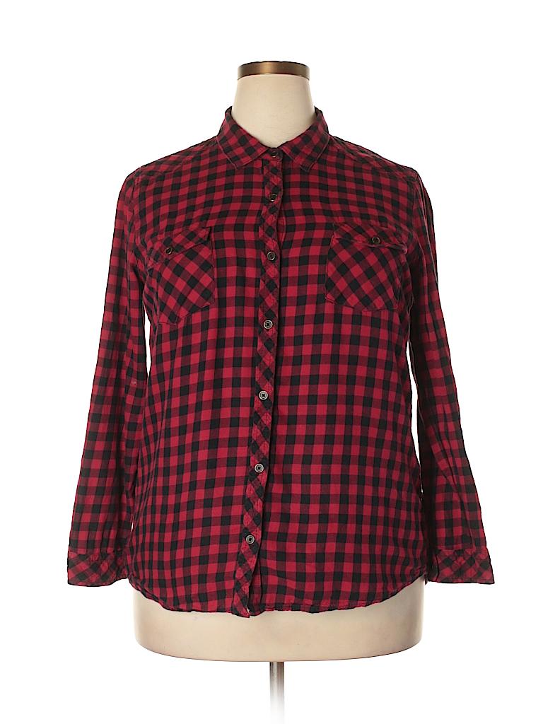 ce1e6af548b Pin it Faded Glory Women Long Sleeve Button-Down Shirt Size XL