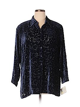 Elisabeth by Liz Claiborne Long Sleeve Blouse Size 16 (Petite)
