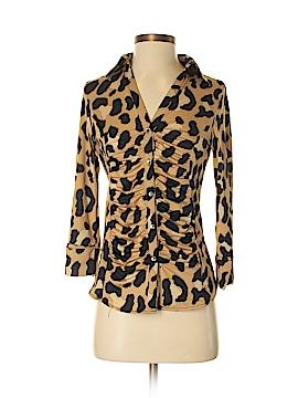 INC International Concepts 3/4 Sleeve Button-Down Shirt Size S