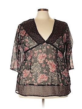 Avenue Short Sleeve Blouse Size 26 (Plus)