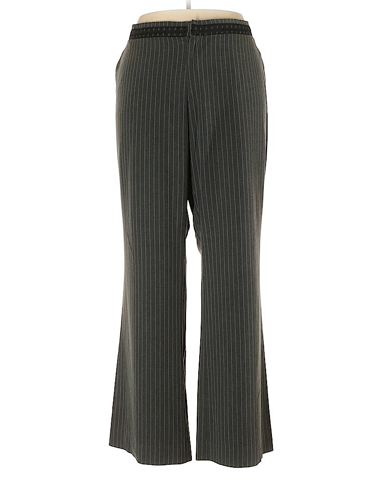 b4f2b3c00cd21 Old Navy Stripes Gray Dress Pants Size 20 (Plus) - 73% off