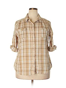 St. John's Bay 3/4 Sleeve Button-Down Shirt Size XL