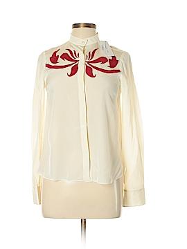 10 Crosby Derek Lam Long Sleeve Silk Top Size 10