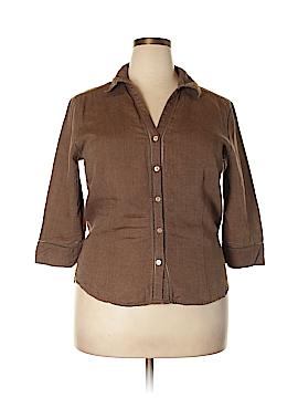 Eddie Bauer 3/4 Sleeve Button-Down Shirt Size XL