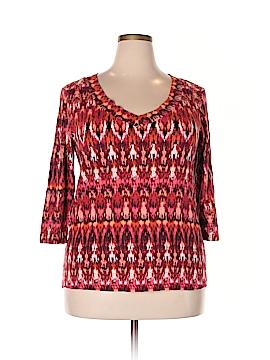 Nicole Miller 3/4 Sleeve Top Size 2X (Plus)