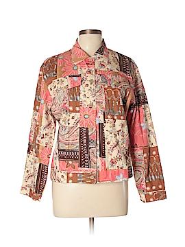 Anne Carson Long Sleeve Button-Down Shirt Size L