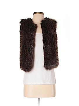 Ann Taylor Faux Fur Vest Size XS
