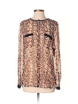 Rachel Roy Long Sleeve Silk Top Size XS