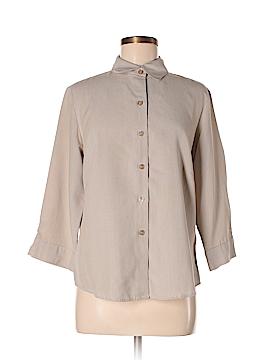 Fashion Bug 3/4 Sleeve Button-Down Shirt Size M