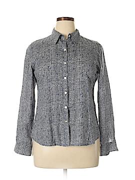 Foxcroft Long Sleeve Button-Down Shirt Size 14 (Petite)